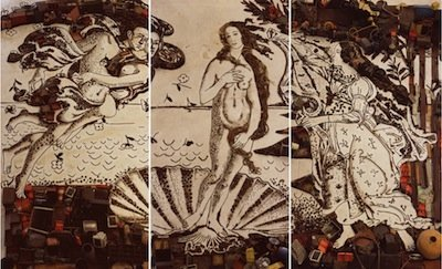Vik Muniz's The Birth of Venus, after Botticelli (Pictures of Junk)