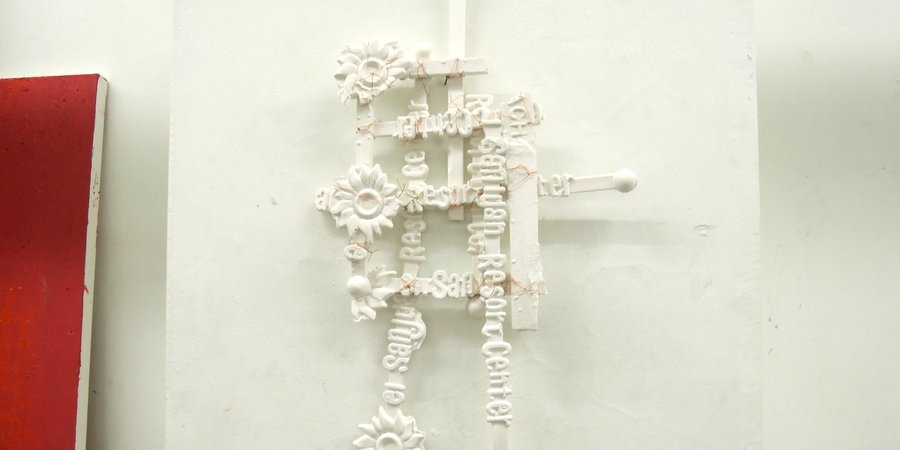 A wall sculpture