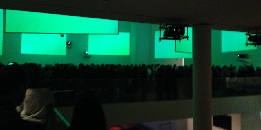 The crowd at the MoMA opening