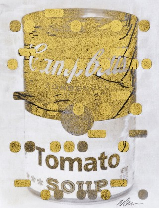 It&#39;s All Derivative:  Campbells Soup in Gold, Negative, by &lt;a href=&#39;/site-admin/artists/artist/1292&#39;&gt;Bill Claps&lt;/a&gt;