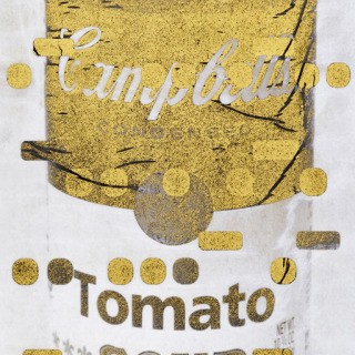It's All Derivative:  Campbells Soup in Gold, Negative, by Bill Claps