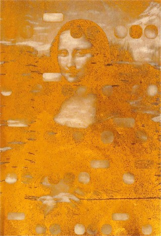 It&#39;s All Derivative:  Mona as Dali, Gold Negative , by Bill Claps