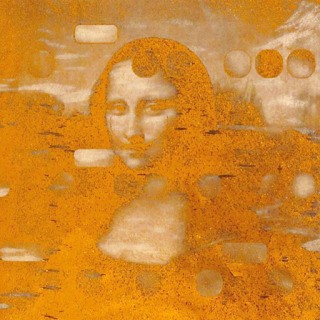 It's All Derivative:  Mona as Dali, Gold Negative  art for sale