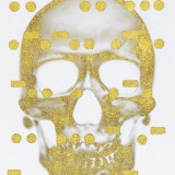 Bill Claps, It&#39;s All Derivative: The Skull in Gold, Negative