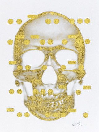 It&#39;s All Derivative: The Skull in Gold, Negative, by Bill Claps