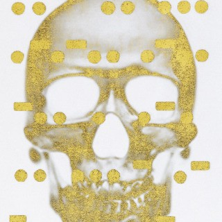 It&#39;s All Derivative: The Skull in Gold, Negative art for sale