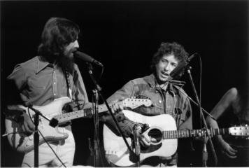 Bill Ray George Harrison and Bob Dylan (August 1, 1971) art for sale
