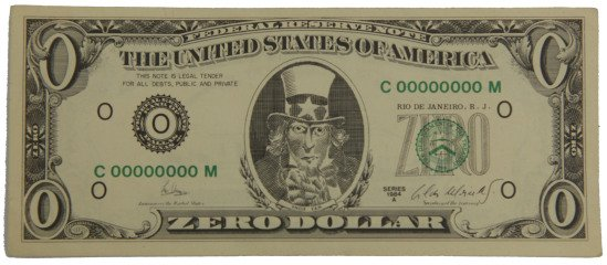 Cildo Meireles Zero Dollar art for sale