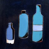 W. Dieter Zander, 3 Bottles in Blue 