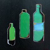 W. Dieter Zander, 3 Bottles in Green