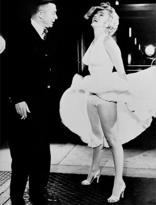 "Billy Wilder, Marilyn Monroe Set of ""The Seven Year Itch"", by Frank Worth"