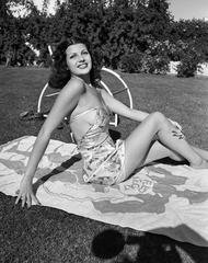 Rita Hayworth Sunbathing, by Frank Worth