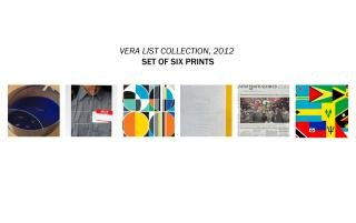 Set of six prints from the Vera List Anniversary Print Portfolio 