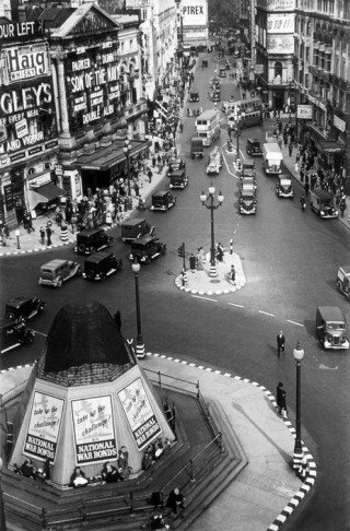England. London. Picadilly Circus. 1940., by George Rodger