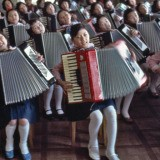 Hiroji Kubota, North Korea. Pyongyang. 1982. Children at Pyongyang Student and Children&#39;s Palace.