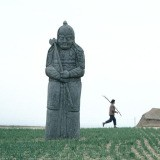 Hiroji Kubota, China. Gongxian. Henan. 1982. Stone statue. Vast grave site called Yongdingling, where the emperors of the Northern Song dynasty rest.