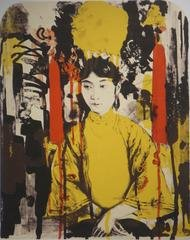 Untitled (empress yellow red), by Hung Liu