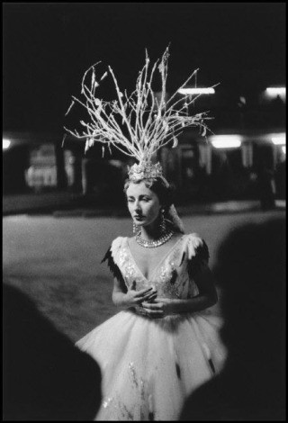 "Cynthia Balfour Rehearsing ""Fire Vanquished by Snow"" (from Bal D'Hiver series), by Inge Morath"