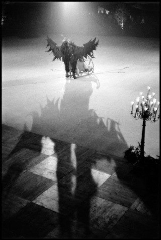 "France. Paris. 1955. Performance on ice of ""Empress Anne and the Eagle of Russia""., by Inge Morath"