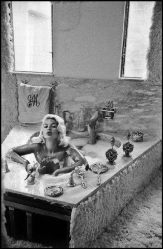 Jayne Mansfield at home, Hollywood, 1959., by Inge Morath