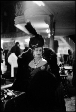 France. Paris. 1955. Princess Chavchavadze in her costume as Empress Catherine the Great. The Empress' costume was created by Lanvin-Castillo., by Inge Morath