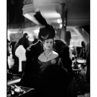 Inge Morath, France. Paris. 1955. Princess Chavchavadze in her costume as Empress Catherine the Great. The Empress&#39; costume was created by Lanvin-Castillo.
