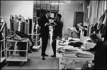 Yves St. Laurent, Dior Studio, Paris, 1957, by Inge Morath