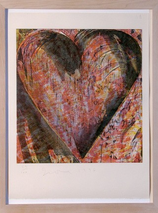 Jim Dine Untitled (Heart of BAM) art for sale