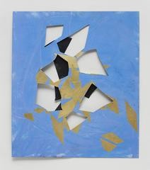 UNTITLED (black, blue, and gold), by Jim Hodges