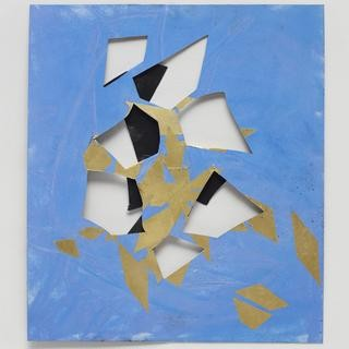 Jim Hodges, UNTITLED (black, blue, and gold)