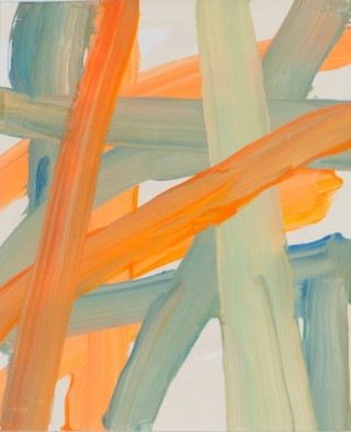 Untitled (orange beige bluegreen), by Leah Durner