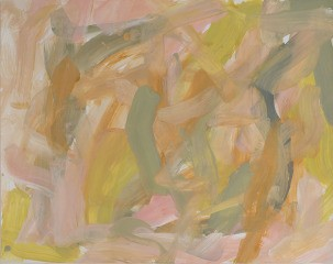 Untitled (pale pink pale olive yellow ochre), by Leah Durner