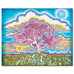 Linda Vallejo Electric Oak: Full Moon in Daylight art for sale