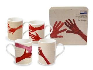 10am is When You Come To Me-  set of 4 Mugs, by Louise Bourgeois