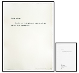100 Pisama/100 Letters, by Marina Abramovic