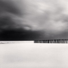 Fifty Four Sticks, Calais France, 1998, by Michael Kenna