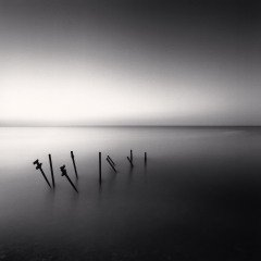 Supports De Jetee, France, 1997, by Michael Kenna