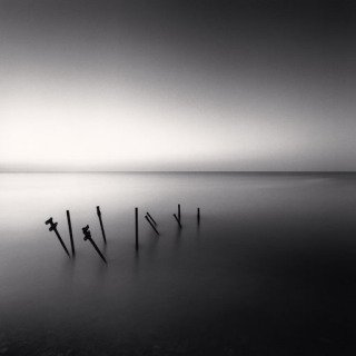 Michael Kenna, Supports De Jetee, France, 1997