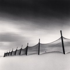 Wind-Swept Beach, Calais, France, 1999, by Michael Kenna