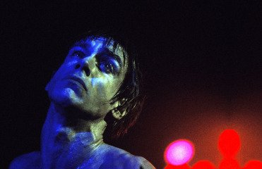 Blue Iggy Pop, New York City, by Mick Rock