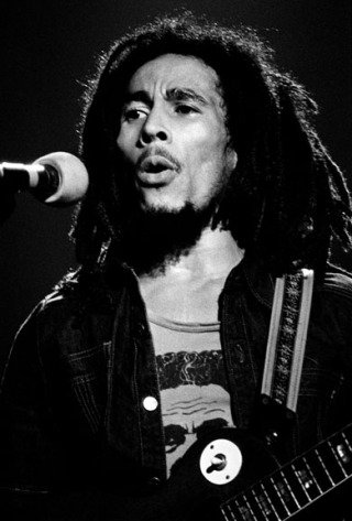 Bob Marley, Hammersmith Odeon. London, by Mick Rock
