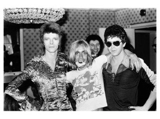 Bowie, Iggy and Lou Reed, Dorchester Hotel, London, by Mick Rock
