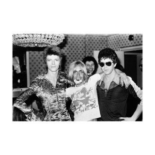 Mick Rock, Bowie, Iggy and Lou Reed, Dorchester Hotel, London