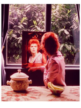 David Bowie In Mirror, UK, by Mick Rock