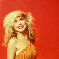 Debbie Harry Orange Smile, New York City, by Mick Rock