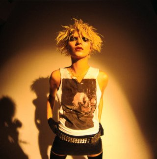 Kate Moss With Iggy Tee, New York City, by Mick Rock