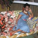 Mickalene Thomas, Portrait Of Clarivel Lounging
