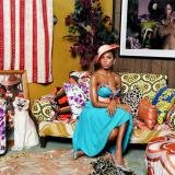 Mickalene Thomas, Portrait of Lili in Color