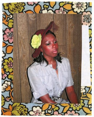 Mickalene Thomas Portrait of Tiffona art for sale