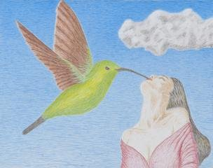 Nick Ghiz The Ecstasy of the Hummingbird Kiss art for sale